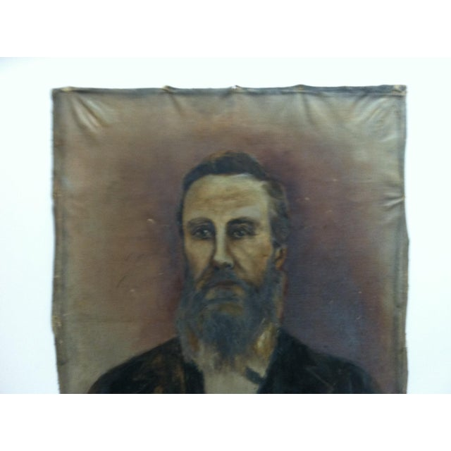"This is an Vintage Original Painting on Canvas that is titled ""Bearded Man"" - The Artist in Unknown. The Painting dates..."