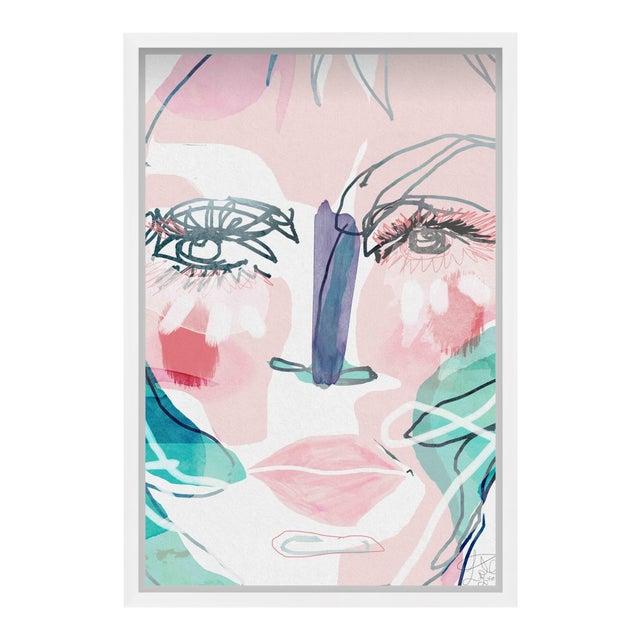 """Oliver Gal Medium 'Meghan ' Framed Art 18"""" x 26"""" For Sale"""
