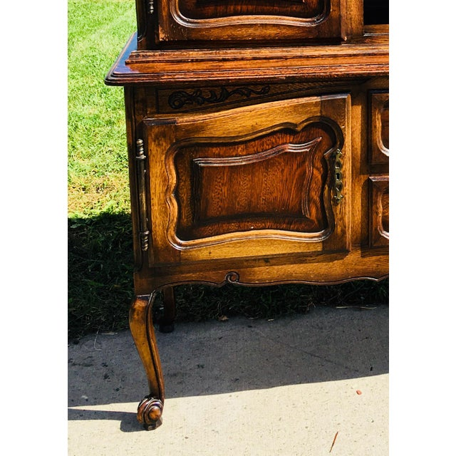 French Country 20th Century French Country Walnut Hutch For Sale - Image 3 of 13