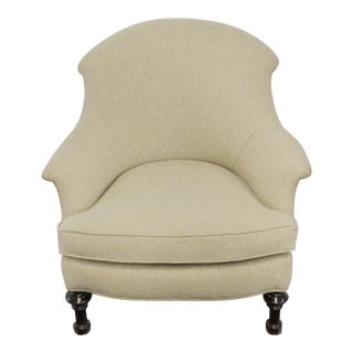 Vintage Neutral Linen Chair