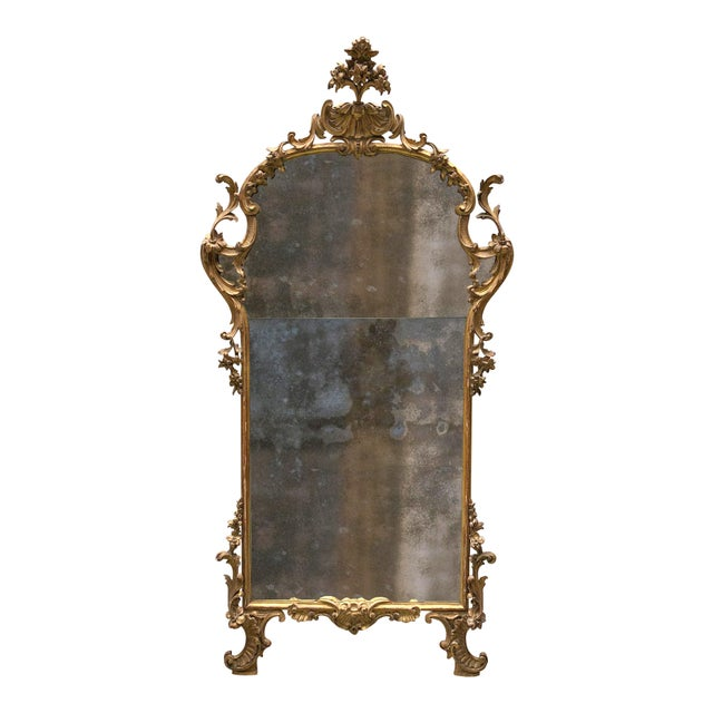 Gold A Fine Italian Rococo Giltwood Mirror, Mid-18th Century,Tuscany For Sale - Image 8 of 8