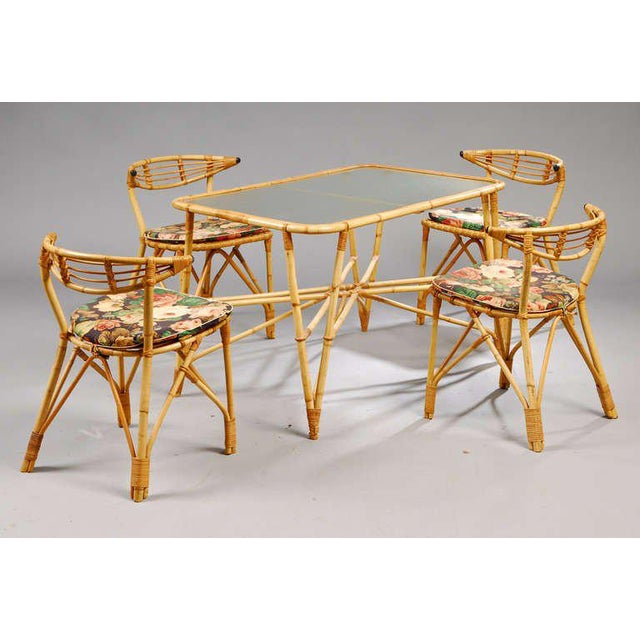 Boho Chic 1940s Vintage Patio Dining Set For Sale - Image 3 of 3