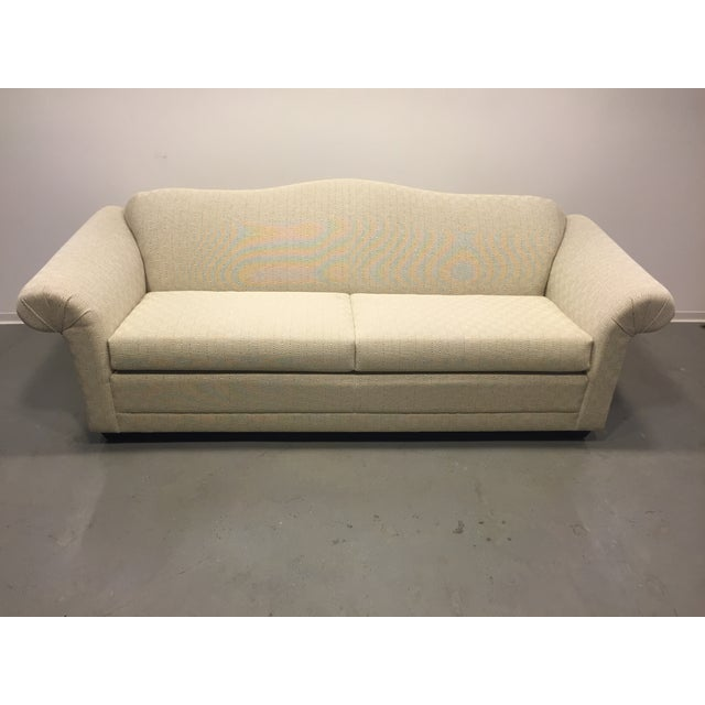 Contemporary Beige Upholstered Sofa - Image 2 of 7
