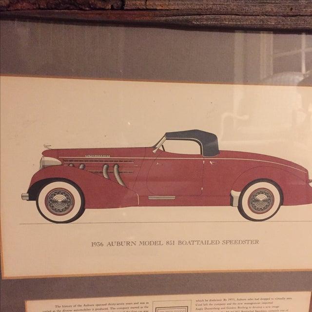 Vintage Framed 1936 Auburn Model 851 Speedster Car Print - Image 3 of 9