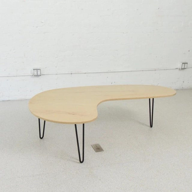 Mid-Century Modern Vintage Faux Marble Boomerang Coffee Table For Sale - Image 3 of 6