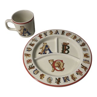 1994 Alphabet Bears Children's Place Setting by Tiffany & Co. - Set of 2 For Sale