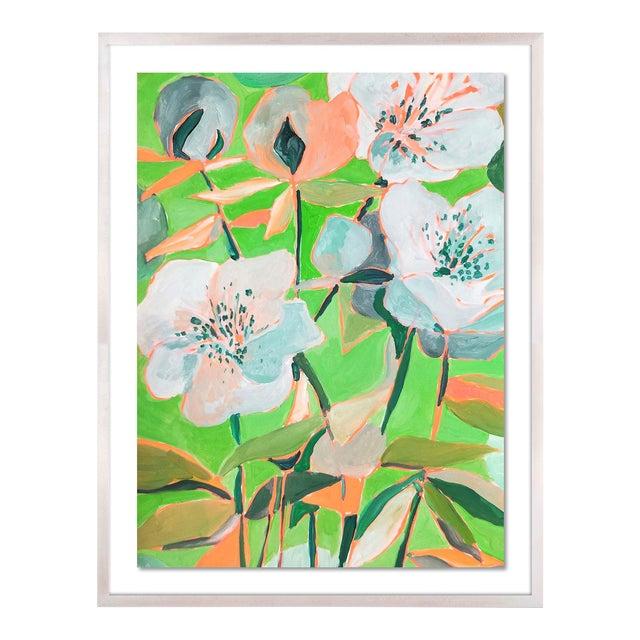 Santorini 2 by Lulu DK in White Wash Framed Paper, Large Art Print For Sale