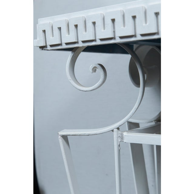 Dorothy Draper Dorothy Draper Style Wrought Iron Console For Sale - Image 4 of 11