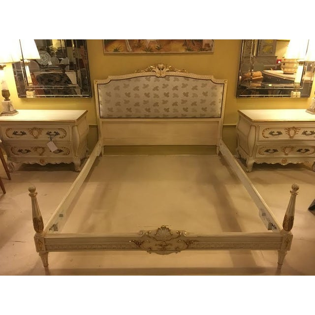 Painted French Louis XVI Style Bed - Image 2 of 7
