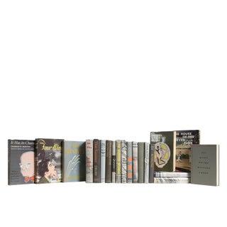 Midcentury Granite Dustjacket : Set of Twenty Decorative Books For Sale