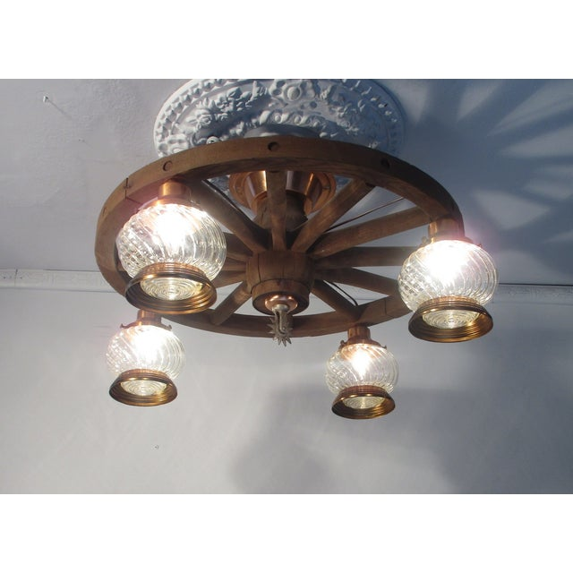 Wagon Wheel Country Western Chandelier - Image 7 of 7