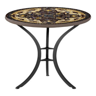 """Almirante 30"""" Bistro Table with Black Base For Sale"""