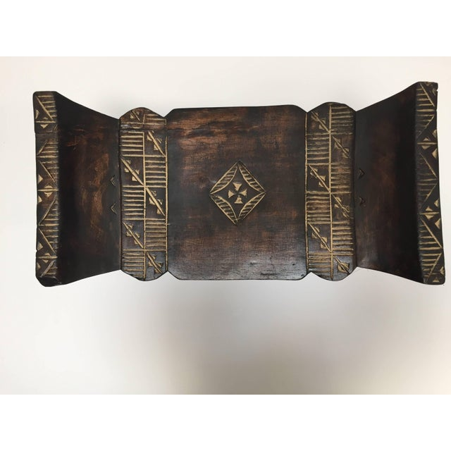 Mid 20th Century African Tribal Wooden Stool From Ghana For Sale - Image 5 of 9