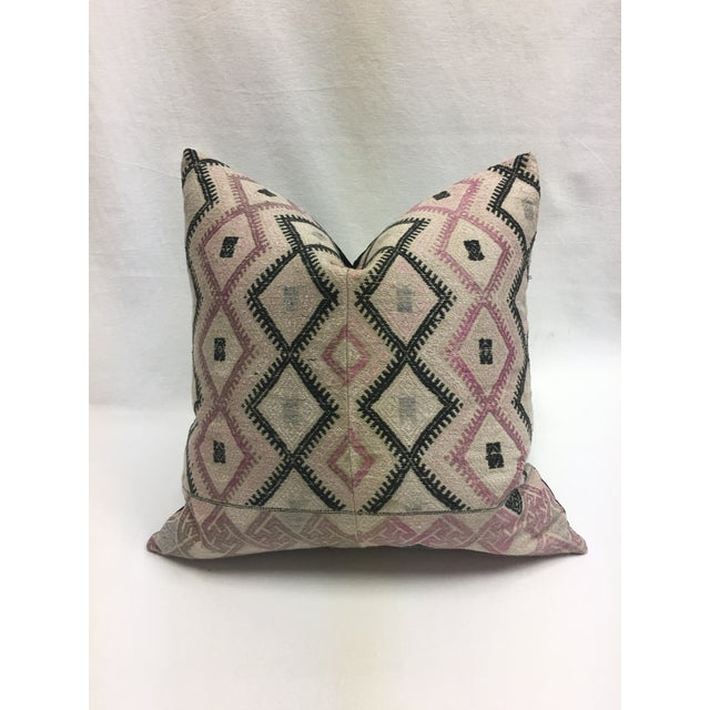 Large Chinese Wedding Blanket Pillows - a Pair - Image 7 of 9