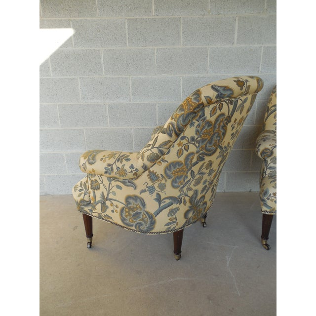 Kravet Furniture Regency Style Accent Club Chairs - A Pair - Image 8 of 11
