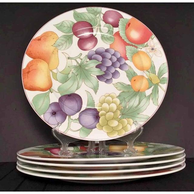Villeroy & Boch, Gallo Design, Frutteto, Chop/Charger Plates - Set of 5 For Sale - Image 13 of 13