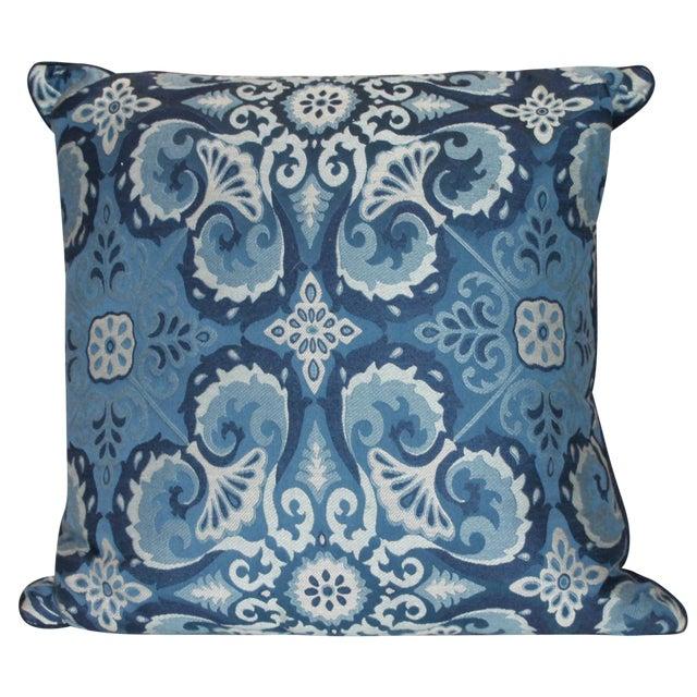 Ryan Studio Blue Paisley Pillow - Image 1 of 3