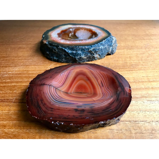Agate Stone Ashtrays - a Pair For Sale - Image 4 of 8