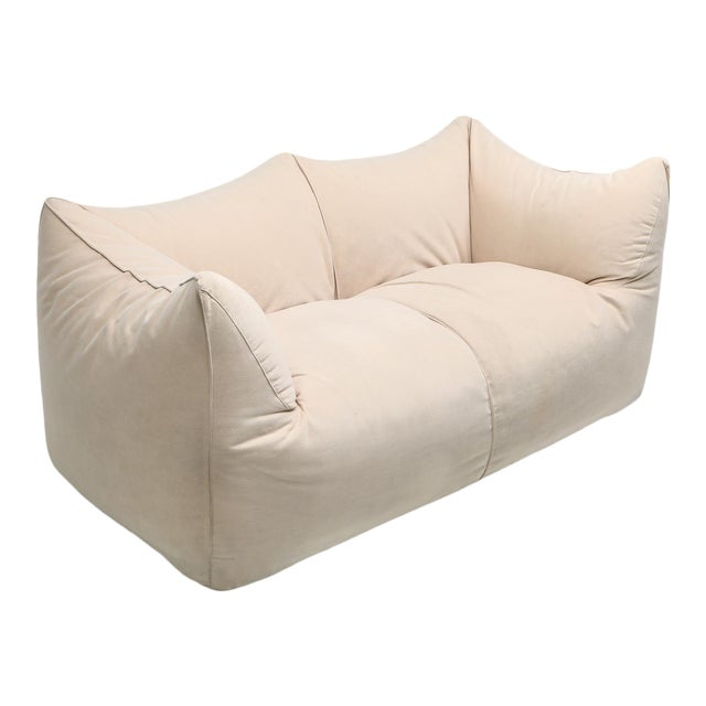 "1970s Mario Bellini ""Le Bambole"" Two-Seat Couch in Alcantara For Sale"
