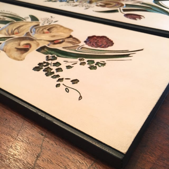 Mid Century Chalkware Botanic Plaques - a Pair For Sale - Image 10 of 12