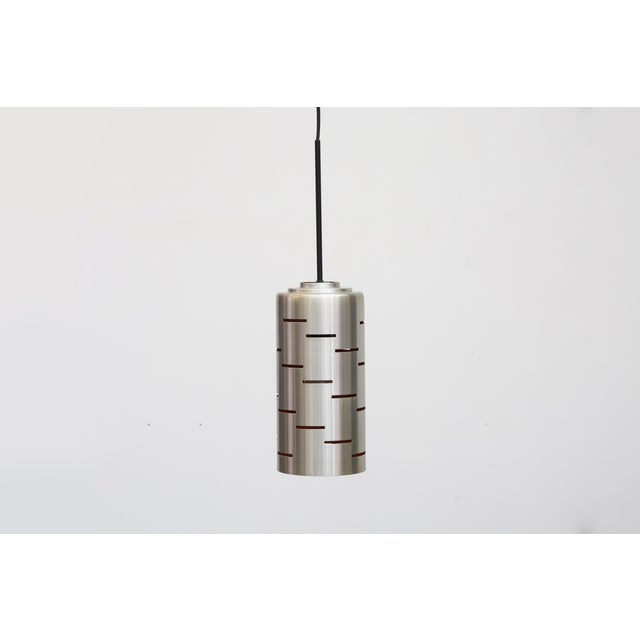 Mod Cylinder Pendant Light With Linear Cut - Image 2 of 8