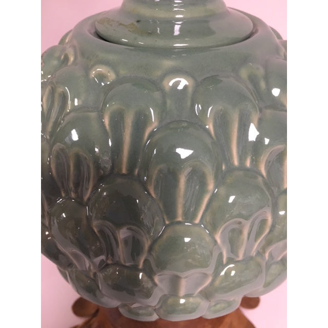 Jade Green Side Table Lamps - a Pair For Sale - Image 9 of 10