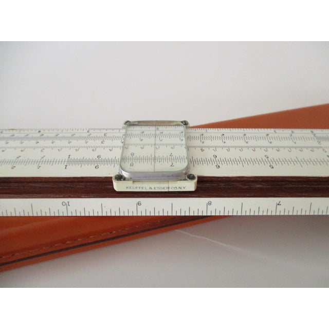 Antique Mahogany Slide Ruler & Magnifier With Orange Leather Case - A Pair - Image 4 of 11