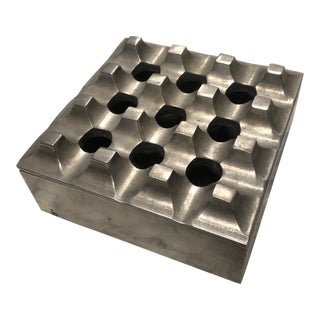 1950s Industrial Perforated Aluminum Box For Sale