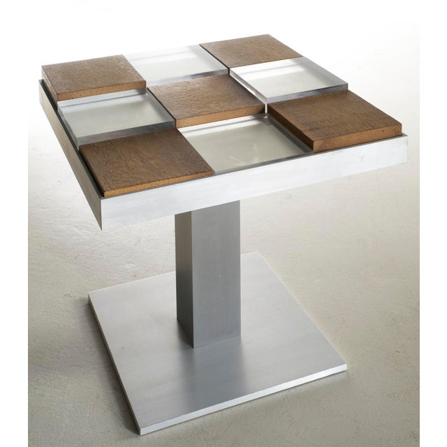 Custom Graphic Aluminum Side Table - Image 6 of 6