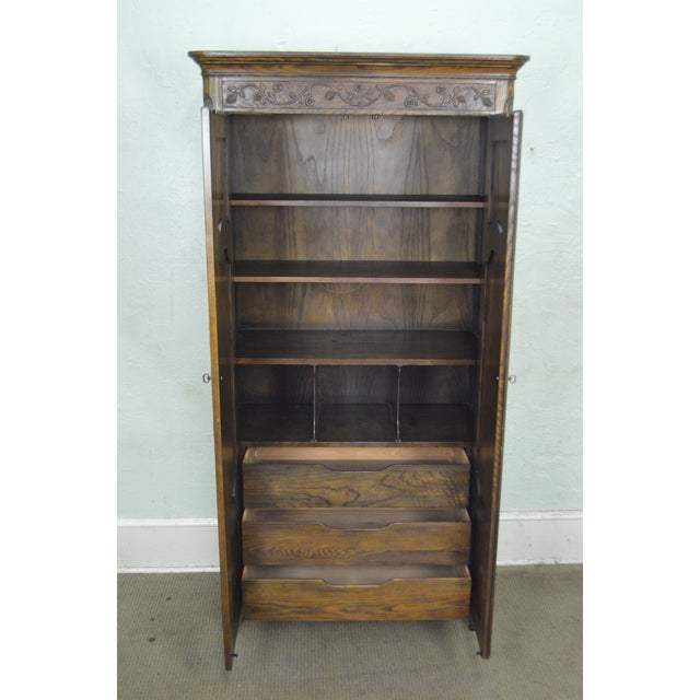 Baker French Louis XV Style Large Armoire Cabinet - Image 5 of 10