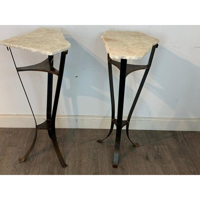 Pair of Rock Crystal and Iron Pedestals For Sale - Image 12 of 13