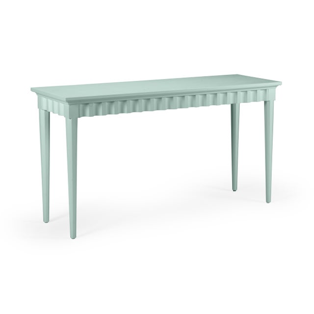 Transitional Casa Cosima Flutter Console, Palladian Blue For Sale - Image 3 of 3
