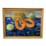 """Image of Carmen Galigarcia """"Cuban Kitchen"""" Original Oil on Canvas Painting For Sale"""