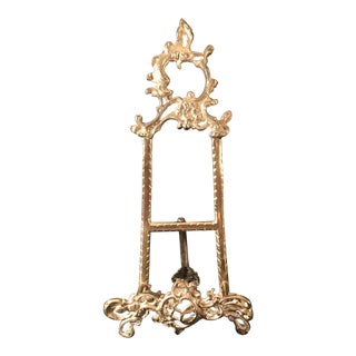 Vintage Large Ornate Brass Table Easel