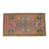 "Image of Hand Knotted Door Mat, Entryway Rug, Bath Mat, Kitchen Decor, Small Rug, Turkish Rug - 1'10"" X 3'3"" For Sale"