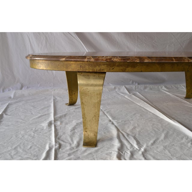 1970s Vintage Mueller Faux Marble Oval Table - Image 4 of 8