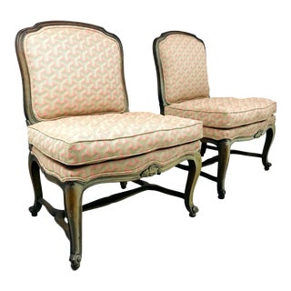 French Slipper Chairs - a Pair For Sale