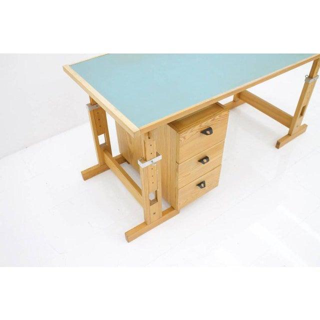 Asko Adjustable Pine Wood Writing Desk Finland, 1970s For Sale - Image 10 of 13