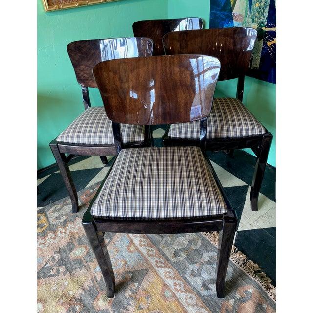 English Ebonized 20th Century English Dining Chairs - Set of 6 For Sale - Image 3 of 7