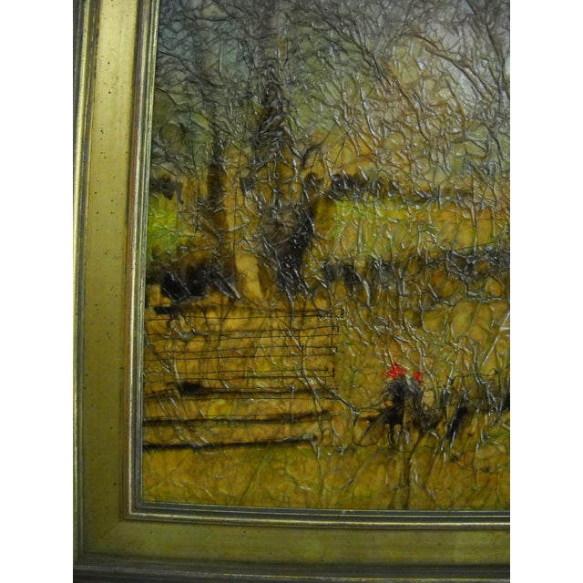 Country Lane Trotter Mixed-Media For Sale In Orlando - Image 6 of 8