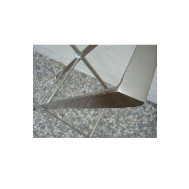 Silver Hammered Removable Tray Table For Sale In Sacramento - Image 6 of 6