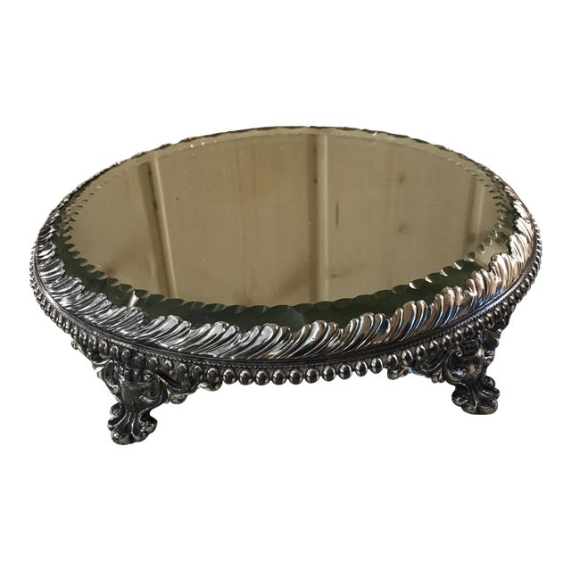 Vintage Silverplate Mirrored Plateau Stand - Image 1 of 10