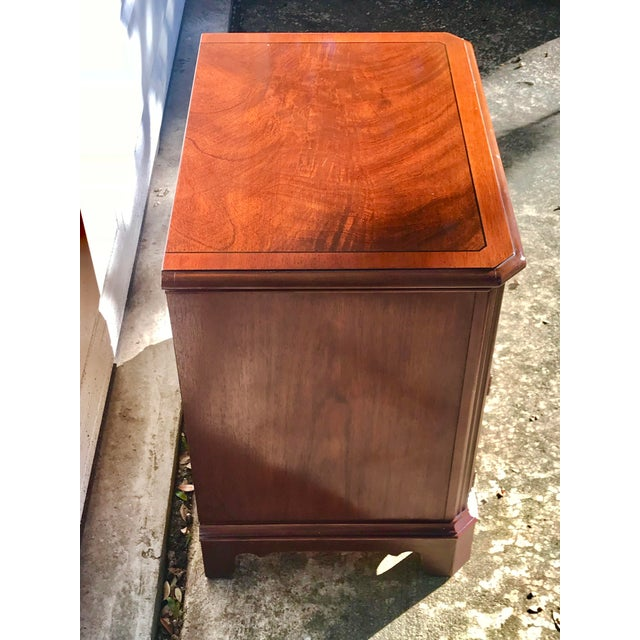 Chippendale Drexel Heritage Chippendale Cherry Wood Nightstand For Sale - Image 3 of 10