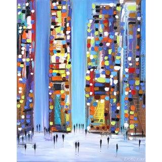 """Walking Through the City"" Original Artwork by Ekaterina Ermilkina For Sale"