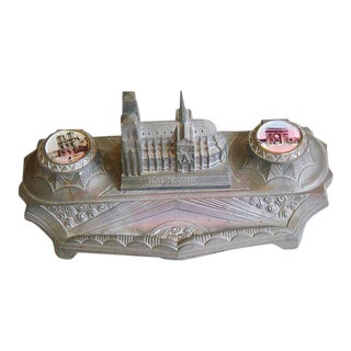 1930s French Iconic Historic Sites Inkwell For Sale