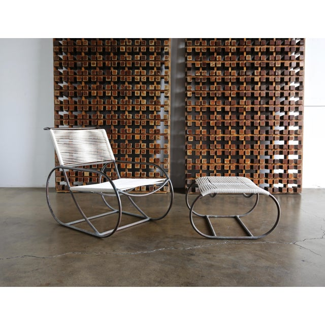 Bronze Outdoor Lounge Chair and Ottoman by Kipp Stewart for Terra of California For Sale In Los Angeles - Image 6 of 13