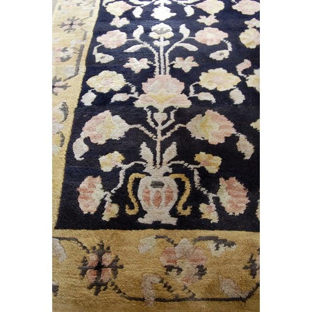 "Antique Black & Pink Oushak Rug- 3'5"" x 5'5"" - Image 5 of 6"