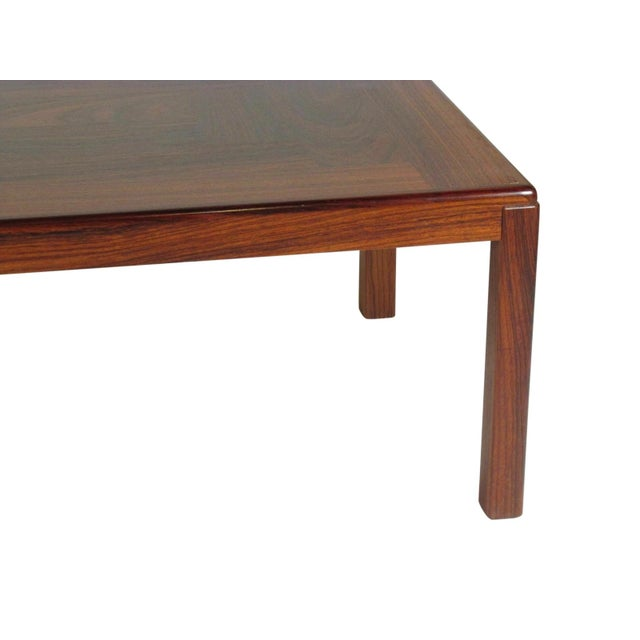 1960s Mid-Century Modern Rosewood Coffee Table For Sale In Boston - Image 6 of 9