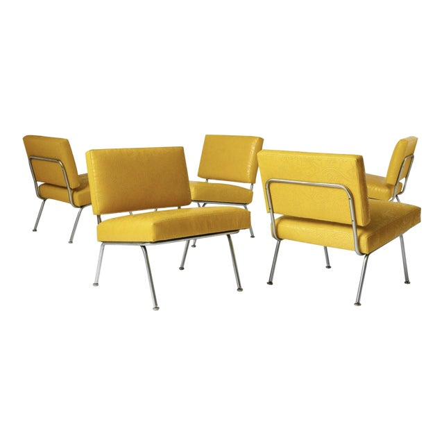 Set of Five Florence Knoll Chairs Model #31 for Knoll International, Ca. 1954 For Sale
