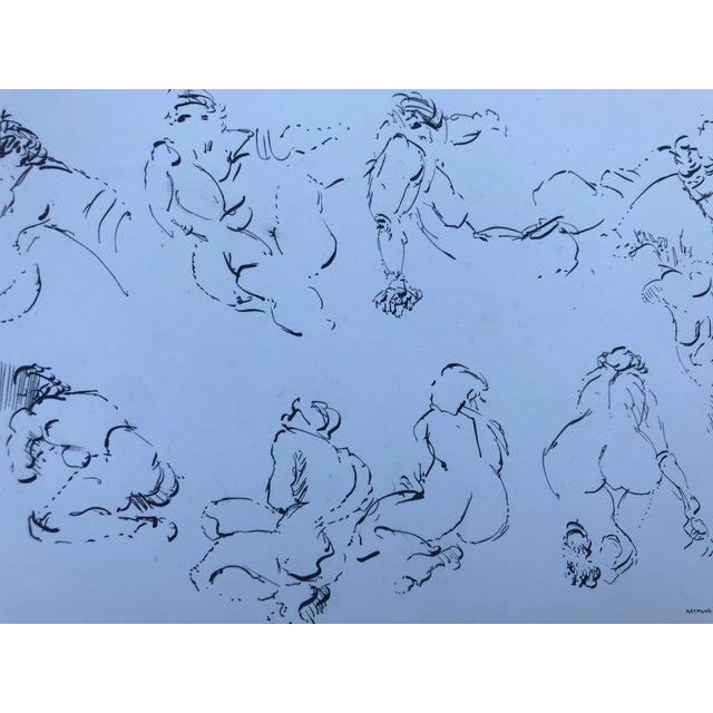 Modern Nude Figure Studies Drawing For Sale - Image 4 of 4